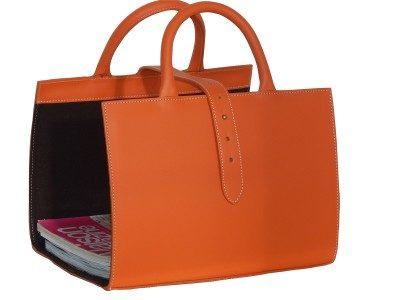 Orange Leather Magazine Holder Lewis Company Best Orange Magazine Holder