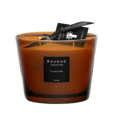 Baobab Max 10 Cuir de Russie Candle