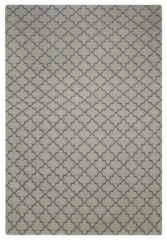 Dhurry Wool Geometric Grey Rug