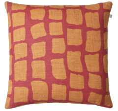 Red Jaffa Orange Cushion