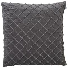 Deva Grey Velvet Cushion