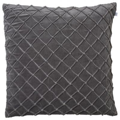 Deva Grey Velvet Cushion