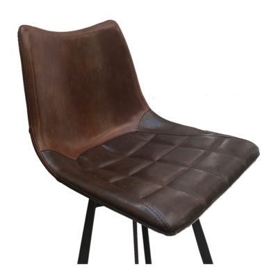 Leather Bar Stool Front