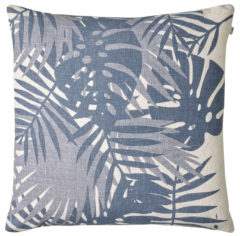 Palm Blue - Light Blue Cushion