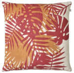 Palm Red Jaffa Cushion