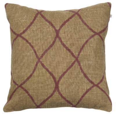 Tara Dark Oak - Ruby Cushion