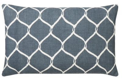 Jaal Blue White Rectangular Cushion