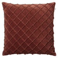 Deva Dark Chili Red Velvet Cushio