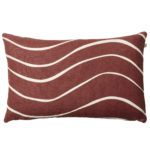 Dark Chilli Red Gaya Linen Cushion